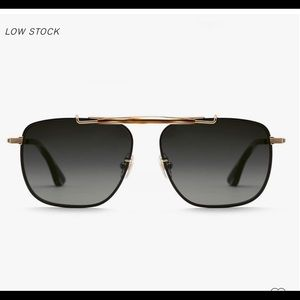 KREWE Avalon Sunglasses - 24K + Matte Black + Oak Polari (NWT) Lifetime Warranty